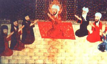 Мухаммед со своими учениками